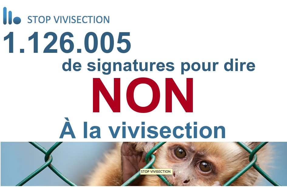 Plus d'un million de signatures pour Stop Vivisection