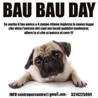 Petizione contro il divieto d'accesso ai cani nei locali pubblici modenesi