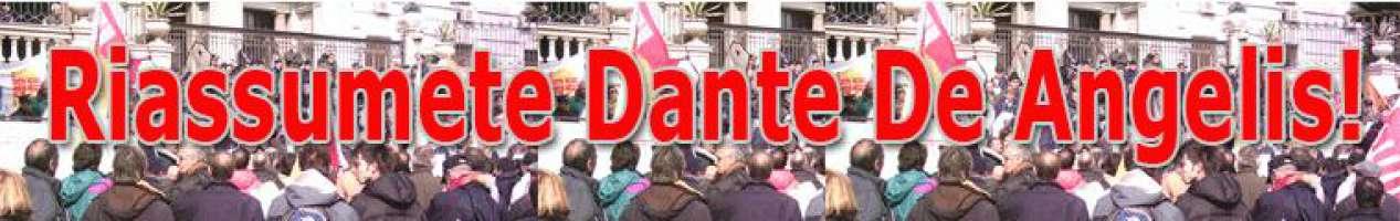 Campagna di Solidarietà a Dante De Angelis.