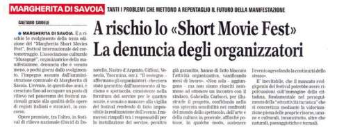 NO all'annullamento del MARGHERITA SHORT FEST