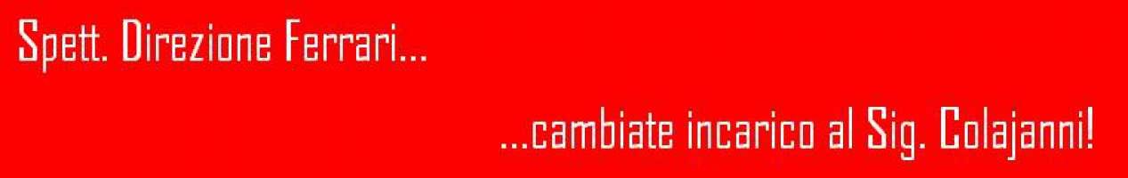 Rimozione Colajanni da referente Ferrari