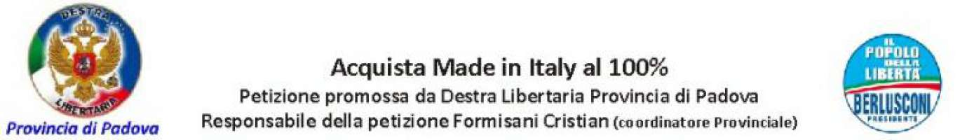 Compra made in Italy 100%