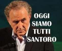 NO ALLO STOP DI ANNOZERO!SOLIDARIETA' A SANTORO!