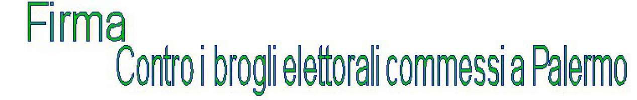 Contro i brogli elettorali a Palermo