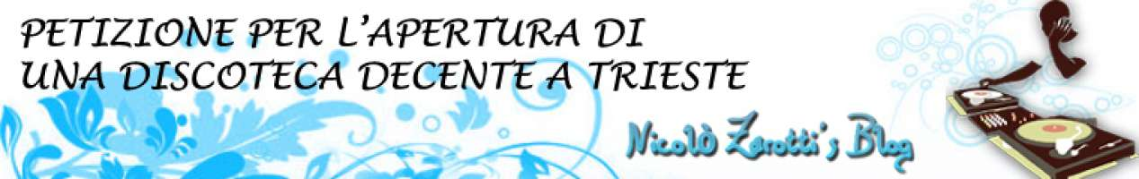 Petizione per l'apertura di una discoteca decente a Trieste