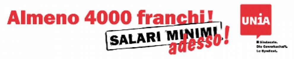 Per un salario minimo di 4'000 franchi