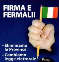 Eliminiamo le Province Firma!!!