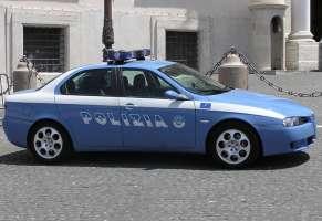 Volanti della polizia inutilizzate