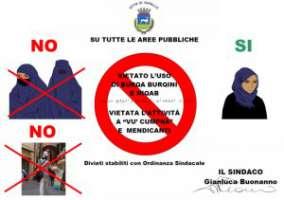 Rimozione dei segnali di intolleranza a Varallo Sesia