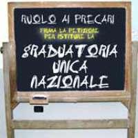 Graduatoria Unica Nazionale il ruolo ai precari della scuola