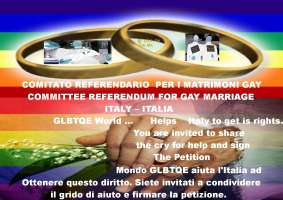 Committee Referundum for Gay Marriage - Italy