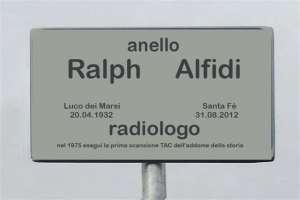 Anello Ralph Alfidi benemerito dell'umanità.