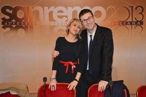 Fabio Fazio e Luciana Littizzetto a Sanremo 2014