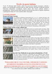 tivoli, la peste italiana