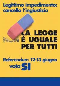 Gli italiani sono contrari al legittimo impedimento
