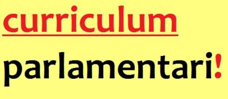 CURRICULUM PER I PARLAMENTARI