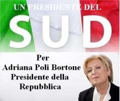 ADRIANA POLI BORTONE PRESIDENTE DELLA REPUBBLICA