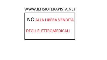 NO ALLA LIBERA VENDITA DI ELETTROMEDICALI