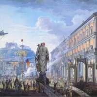 Ricollocazione dell'antica statua del Gigante