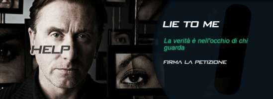 Salviamo Lie To Me - Save Lie To Me