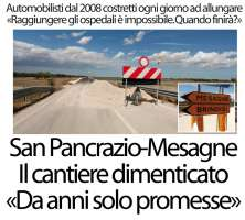 Mobilitazione riapertura S.P. San Pancrazio Mesagne