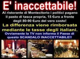 ABOLIZIONE RISTORANTE MENSA A MONTECITORIO X SOLI 15 EURO