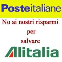 No ai nostri risparmi per salvare Alitalia!