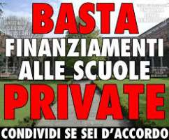BLOCCO FINANZIAMENTI ALLE SCUOLE PRIVATE