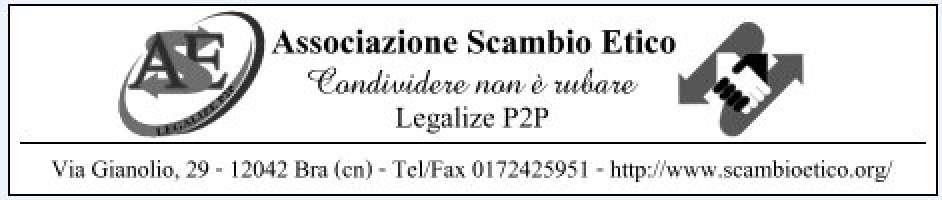 CONDIVIDERE NON E' RUBARE: LEGALIZE P2P