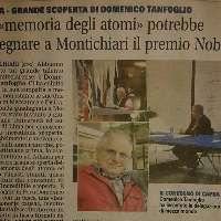 Nobel per la Fisica a Domenico Tanfoglio