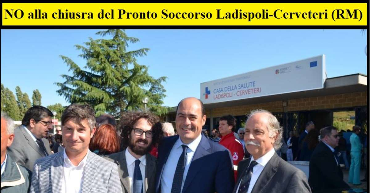 NO alla chiusura PRONTO SOCCORSO Ladispoli-Cerveteri (RM)
