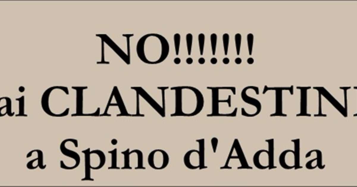 NO!  ai clandestini a Spino d'Adda