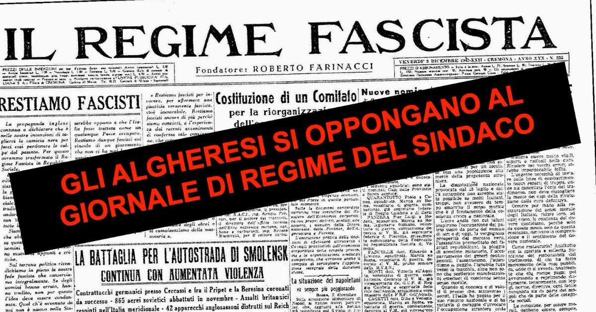 Contro il giornalino di regime del Sindaco di Alghero