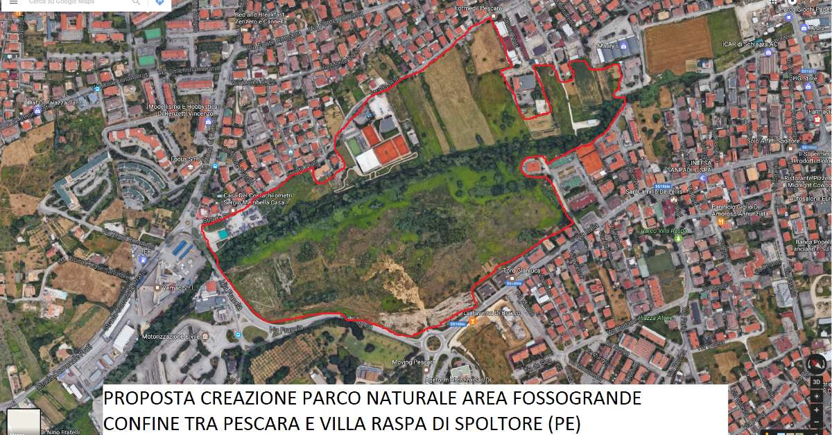 PARCO FOSSOGRANDE  COMUNE DI PESCARA/SPOLTORE