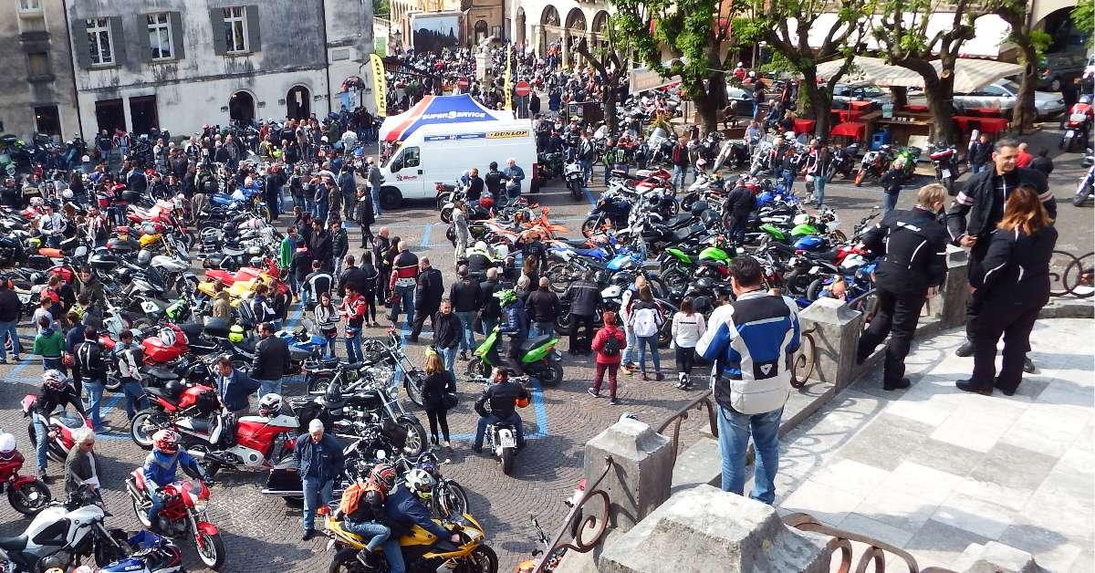 1 maggio '18 motoraduno,in centro storico ad Asolo
