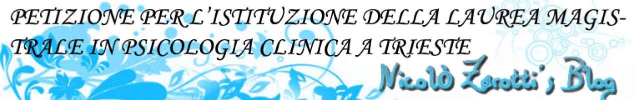 Petizione per l'istituzione del corso  di laurea magistrale in Psicologia Clinica a Trieste