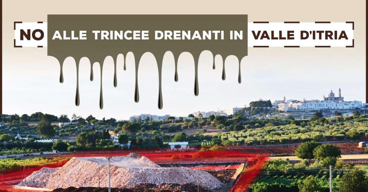 No alle trincee drenanti in Valle d'Itria
