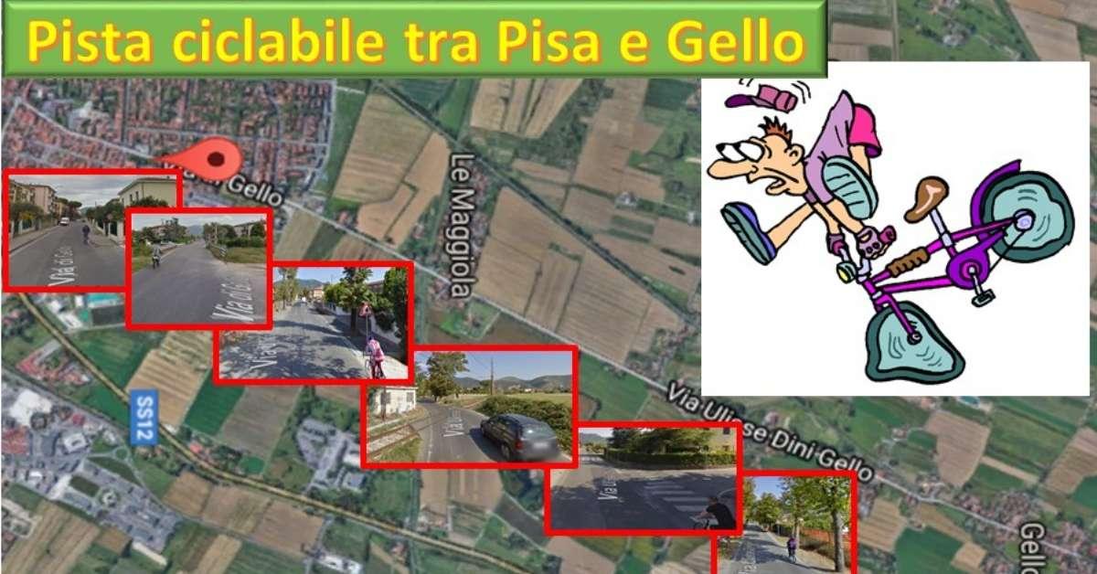 Pista ciclabile tra Pisa e Gello