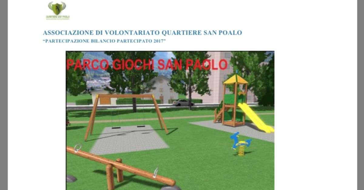 RIQUALIFICA PARCO GIOCHI PARCO San Paolo GRAVINA di CT