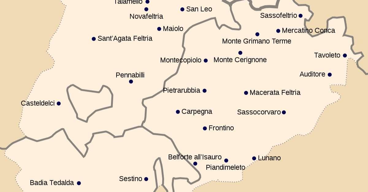 Annessione comuni dell'alto Montefeltro all'EmiliaRomagna