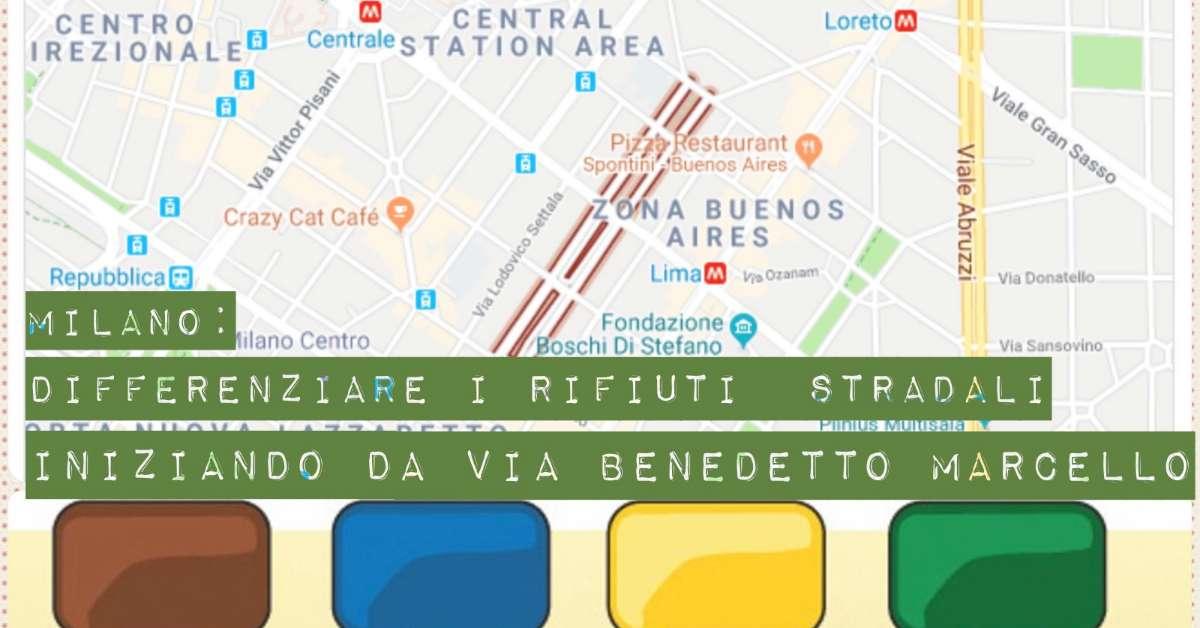 Orso Marcello Raccolta Differenziata in Città