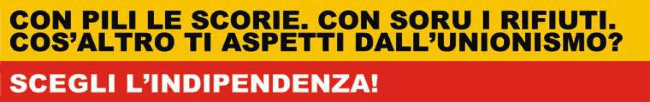 No alla Sardegna immondezzaio dell'Italia