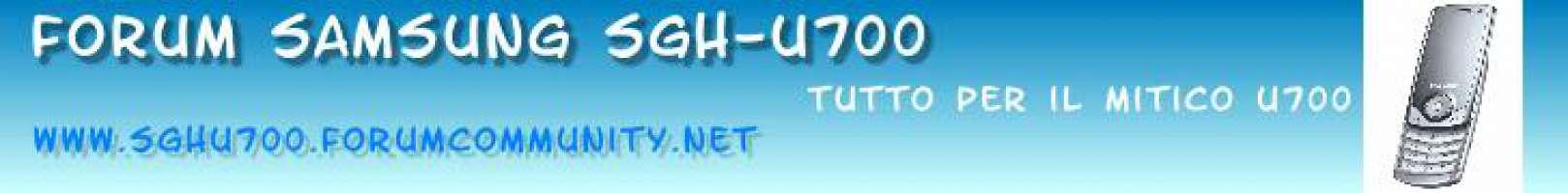 PETIZIONE SAMSUNG U700