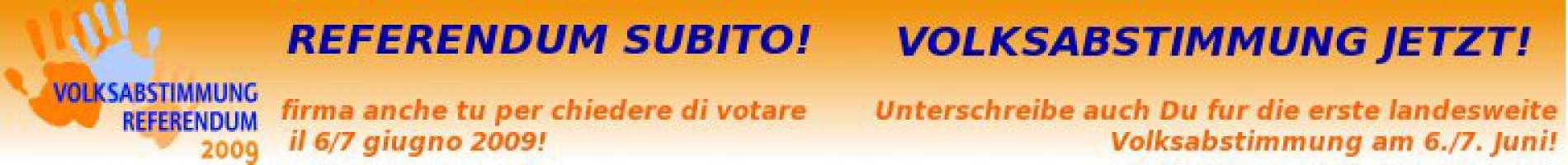 Referendum subito! Volksabstimmung Jetzt!